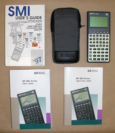 hp48gx calculator with smi cogo card